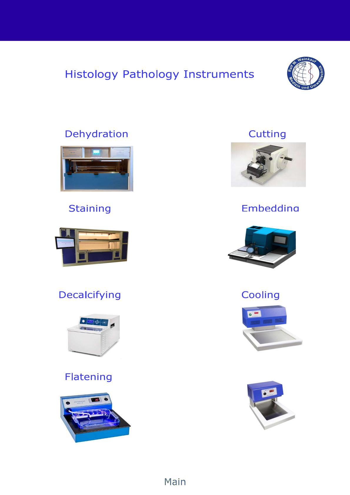 DownloadManufacturer of Instruments for Histology, Cytology and Anatomy tissue processor stainer waterbath microtome cold plate cooling waterbath water bath bain marie